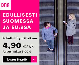 dna puhelinliittymät alkaen 4,90€ / kk