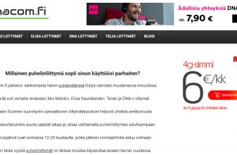 Ainacom.fi puhelinliittymä vertailu on avattu
