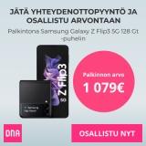 Jätä yhteydenottopyyntö ja osallistu Samsung Galaxy Z Flip3 5G 128 Gt -puhelimen arvontaan